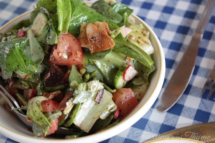 Al Falamanki Raouche Lebanon Fattoush Salad