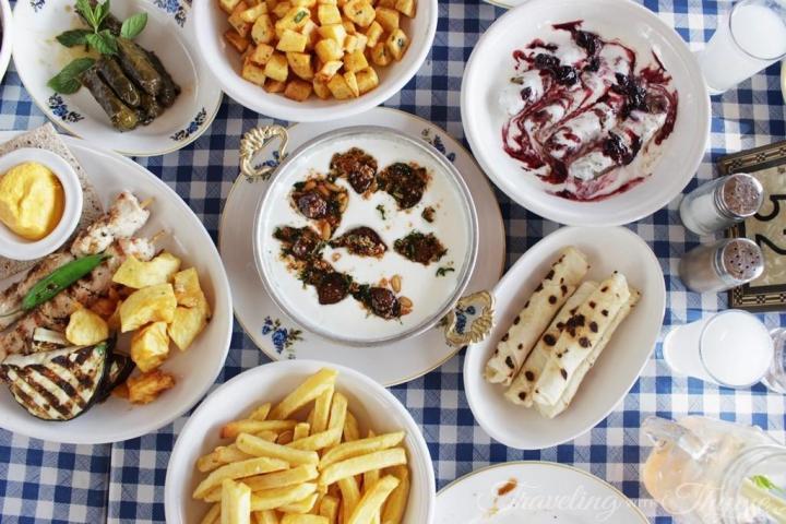 Al Falamanki Hot Mezza Flatlay Lebanese