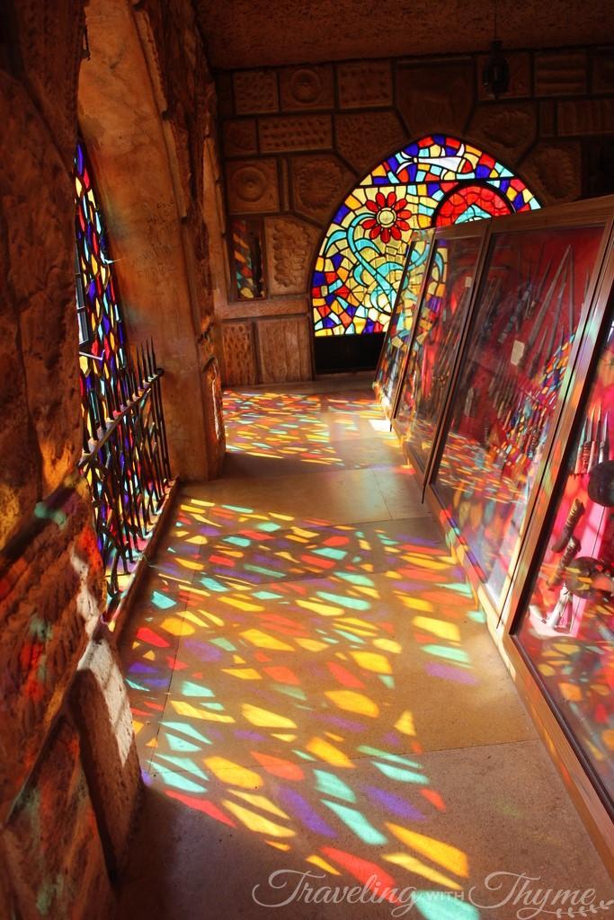 Moussa Castle Rainbow Tainted Color Glass