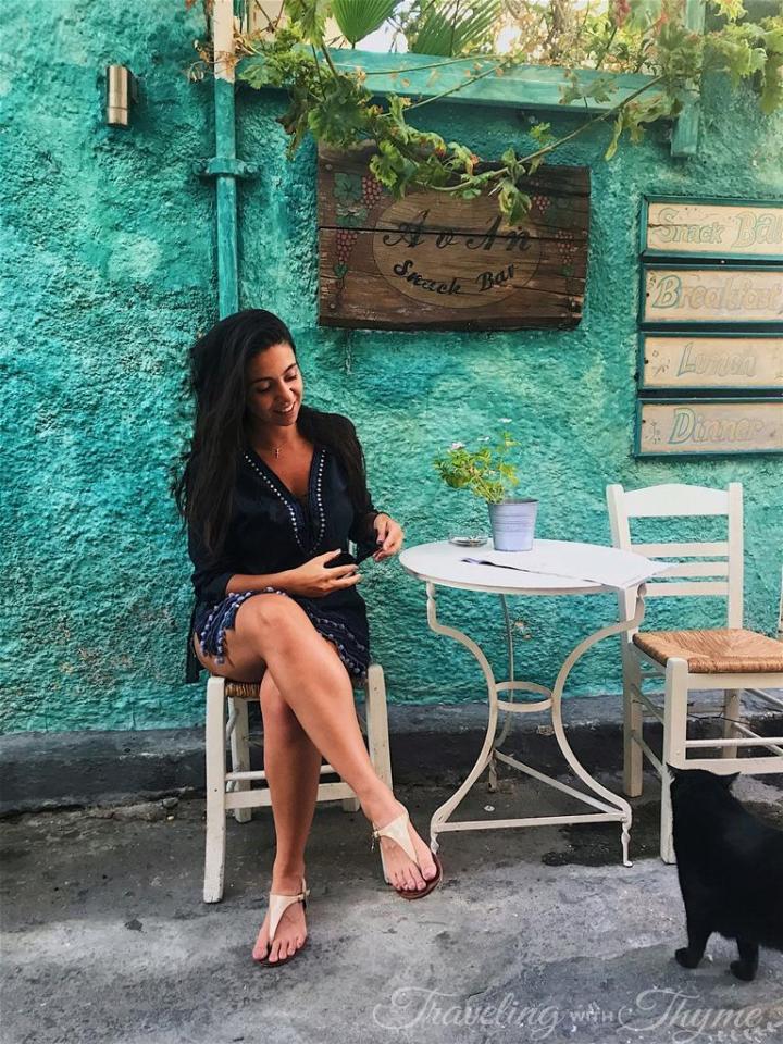 Aegina Island Nightlife Avli Bar Greece