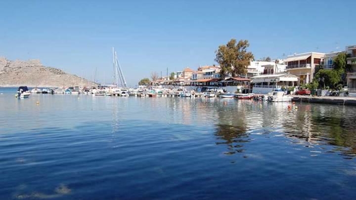 Aegina Island Greece Perdika Fishing Village