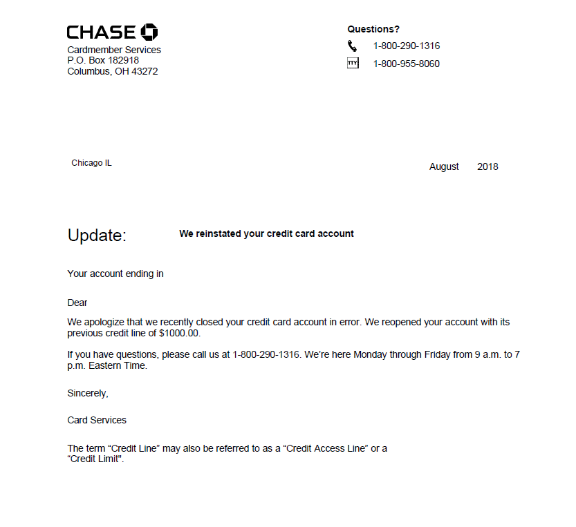 How to (Attempt to) Get Your Chase Account Reinstated After Shutdown