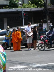 Young monks in China Town in Bangkok (Thailand)