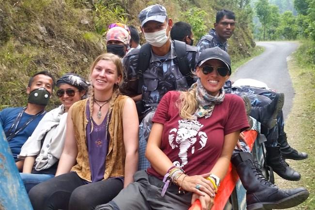 relief work in nepal