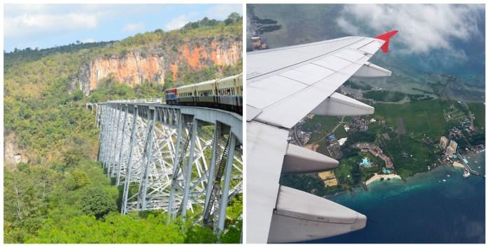 overland travel vs air travel