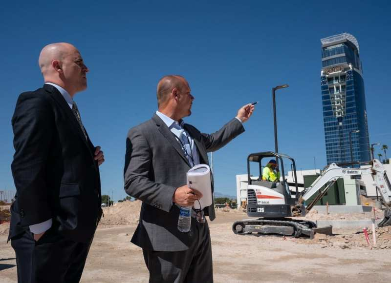 CAI Investments Founder Christopher Beavor Walks the Future Site of Delta Hotels