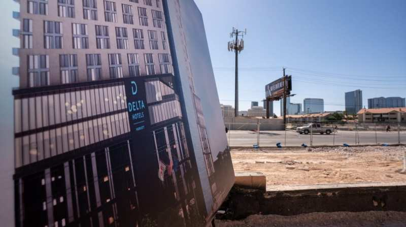 Rendering of Delta Hotels Displayed on Future Site During Groundbreaking Ceremony