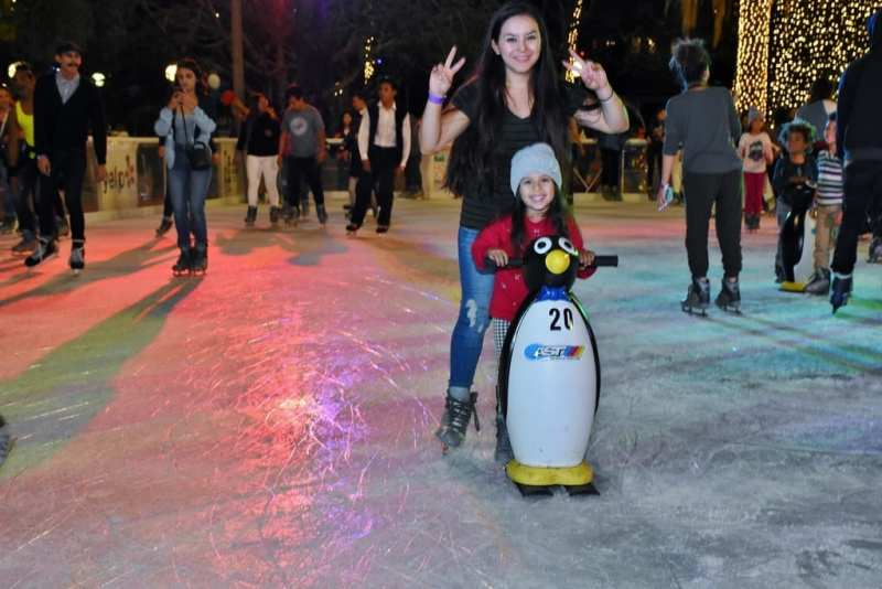 Bai Holiday Ice Rink Pershing Square - OPENING DAY CALIF GOLD SKATING TEAM