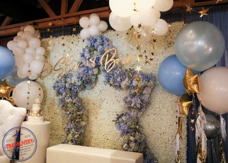 Decor at Andy's baby shower at The Palm Beverly Hills