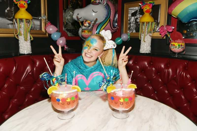 JoJo Siwa smiles big with JoJo inspired non-alcoholic JoJo Goblet
