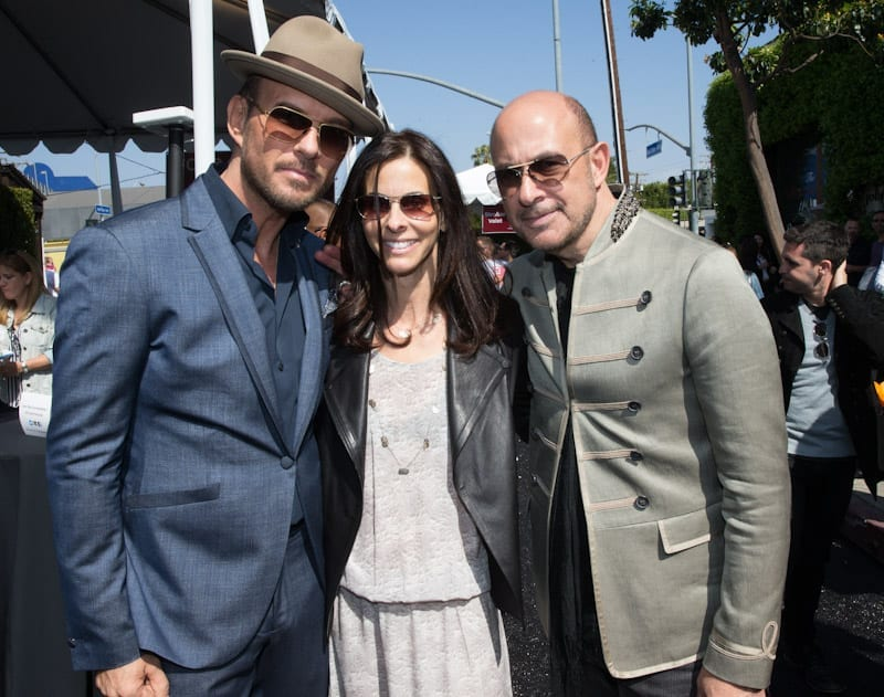 Matt Goss, Joyce Varvatos, and John Varvatos at John Varvatos, Joyce Varvatos 11th Annual Stuart House Benefit