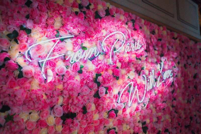 Paris Las Vegas - Neon Floral Wall