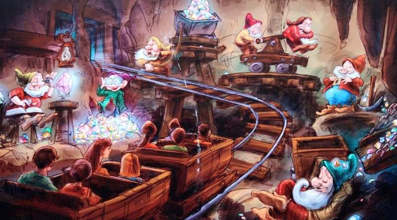 Seven Dwarfs Mine Train Concept