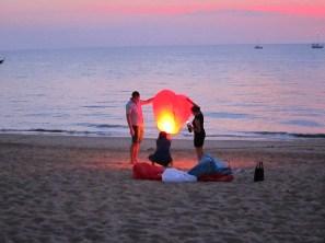 Lanterns on the beach