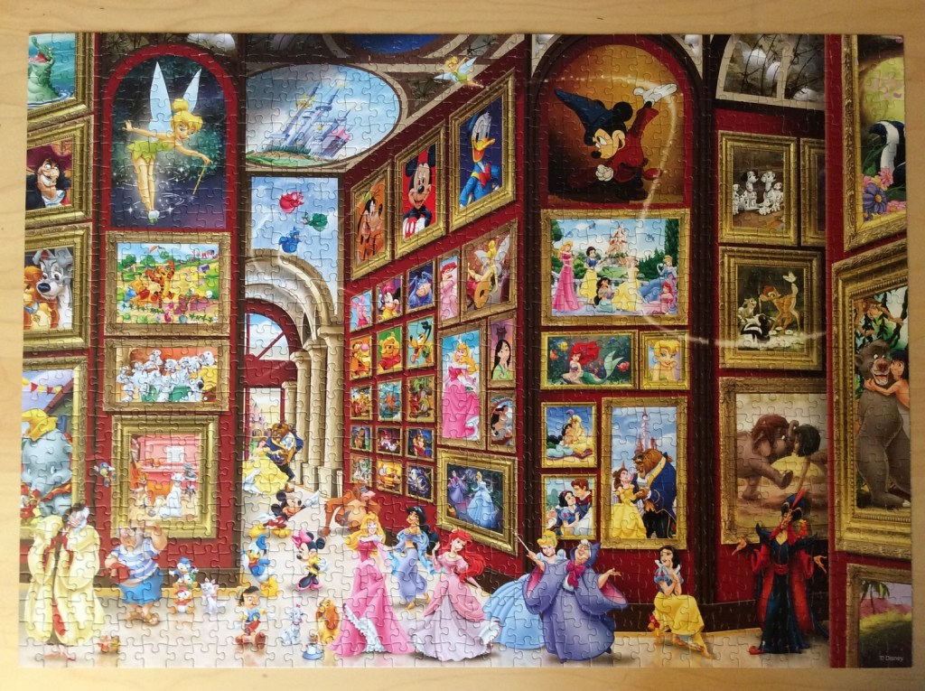 April's Jigsaw - A Disney Gallery: Possibly one of my favourite ever Disney jigsaws, by Ravensburger, 1000 piece