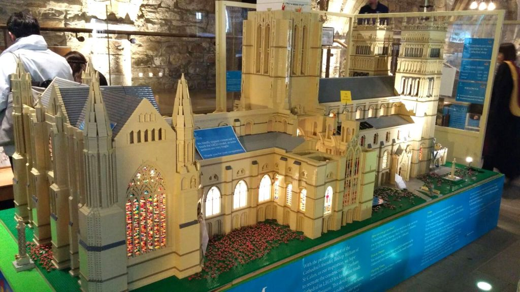 The Almost Completed Lego Model of Durham Cathedral
