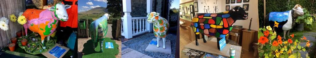 Go Herdwick sheep sculptures in Keswick and Grasmere, Lake District; from a travel blog by www.traveljunkiegirl.com