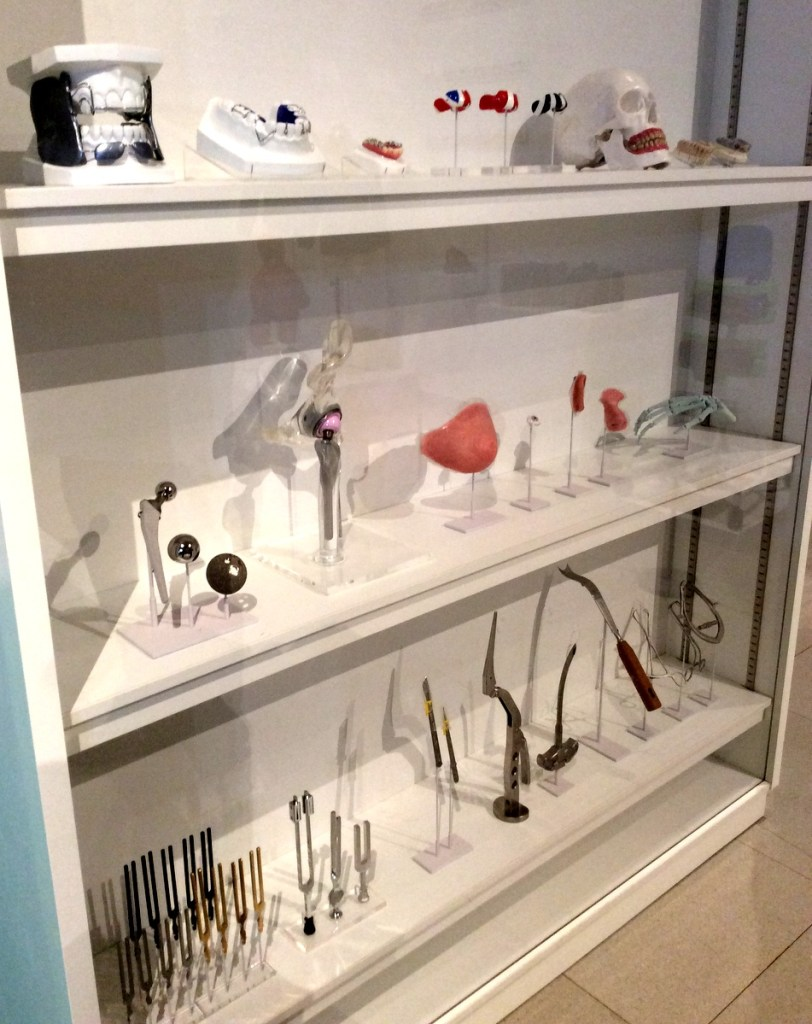 Display of medical and dental equipment at the Millennium Galleries, Sheffield; from a travel blog by www.traveljunkiegirl.com