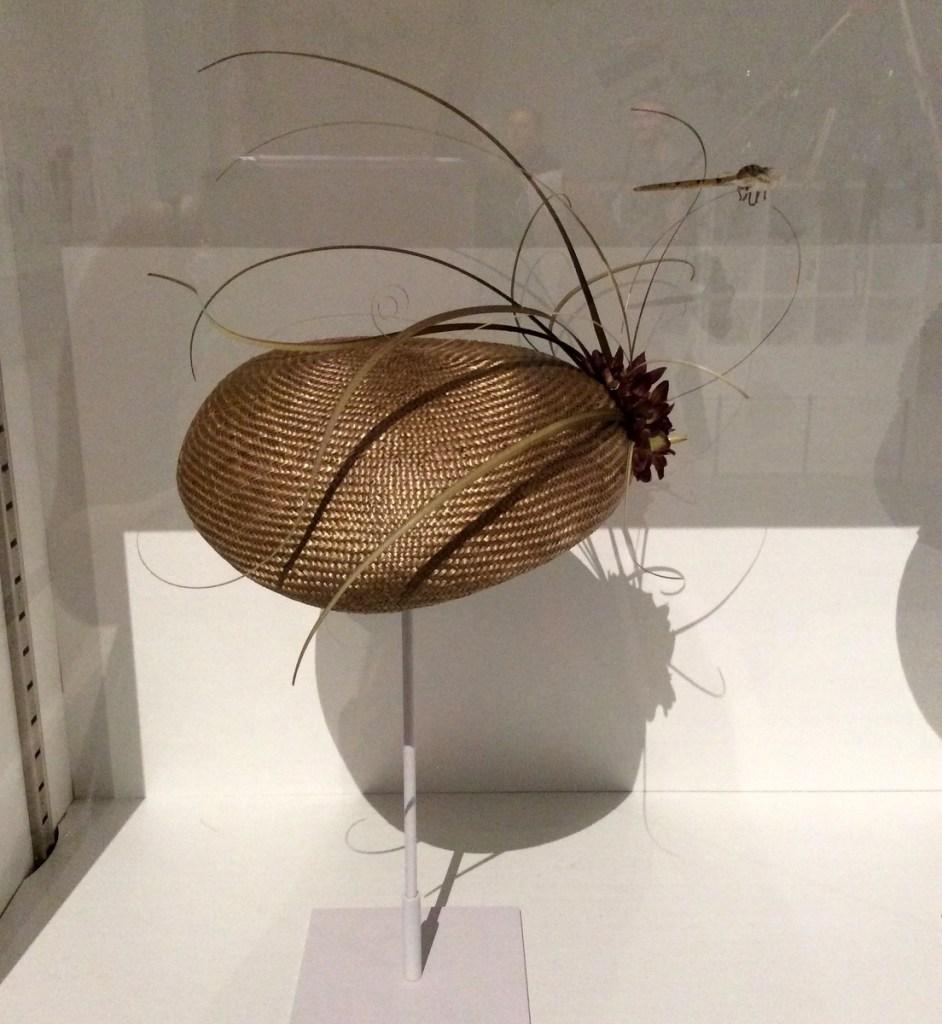 Dragonfly Shaped Beret by Amanda Moon Headwear at Millennium Galleries, Sheffield; from a travel blog by www.traveljunkiegirl.com