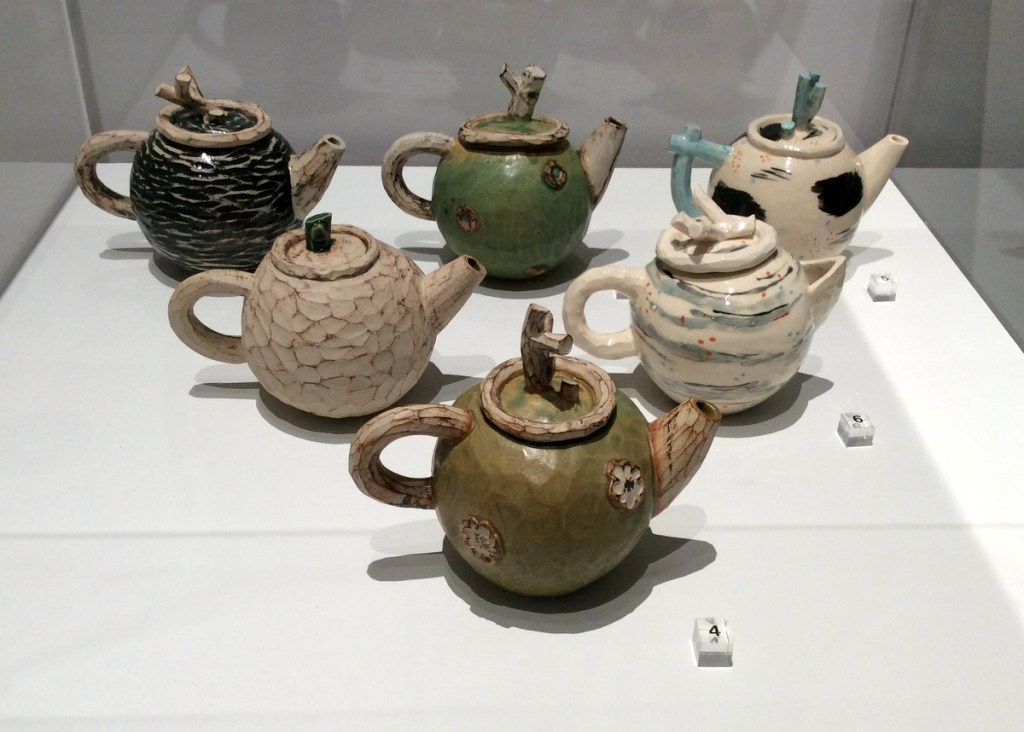 Seth Ceramics stoneware teapots at the Millennium Galleries, Sheffield, from a travel blog by www.traveljunkiegirl.com