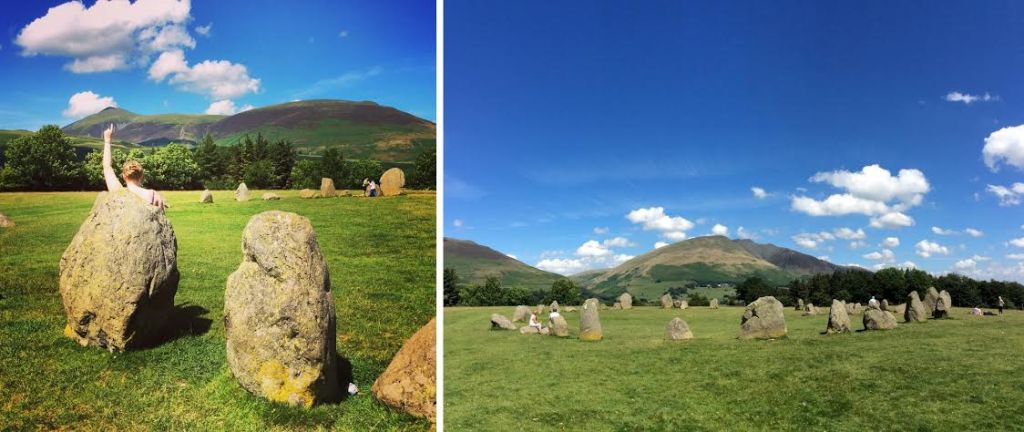 Skiddaw / Blencathra from Castlerigg Stone Circle, the Lake District; from a travel blog by www.traveljunkiegirl.com