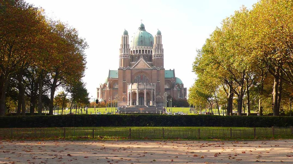 National Basilica of the Sacred Heart in Brussels, Belgium; from a travel blog by www.traveljunkiegirl.com