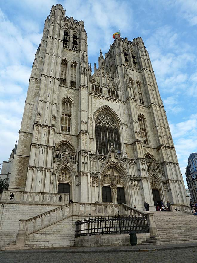 Brussels Cathedral, Belgium; from a travel blog by www.traveljunkiegirl.com