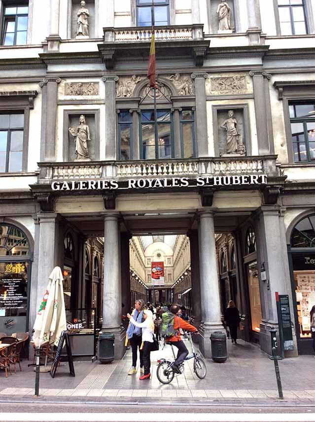 Galeries St-Hubert in Brussels, Belgium; from a travel blog by www.traveljunkiegirl.com