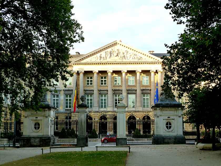 Palais de la Nation in Brussels, Belgium; from a travel blog by www.traveljunkiegirl.com
