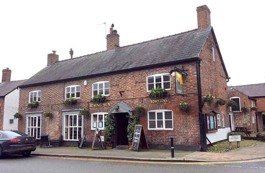 The Rising Sun Pub in Tarporley, Cheshire, UK; from a travel blog by www.traveljunkiegirl.com