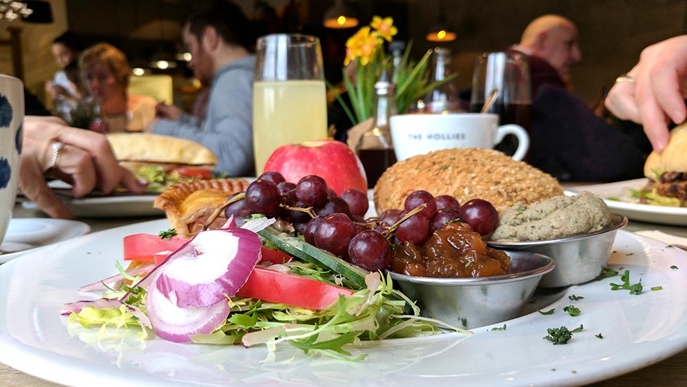 Ploughman's Platter in the Cheshire Coffee Shop at The Hollies Farm Shop, Cheshire; from a travel blog by www.traveljunkiegirl.com