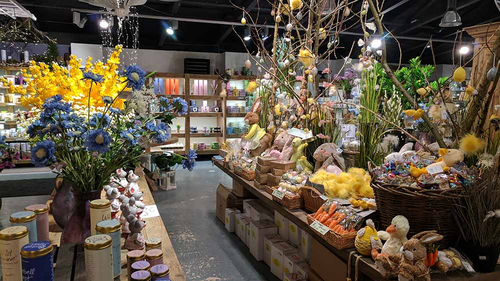 In the Barn Gift Shop at The Hollies Farm Shop, Cheshire; from a travel blog by www.traveljunkiegirl.com