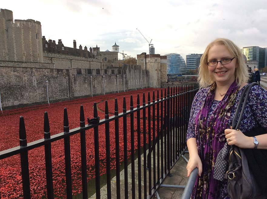 """Blood Swept Lands and Seas of Red"" at the Tower of London 2014; from a travel blog by www.traveljunkiegirl.com"