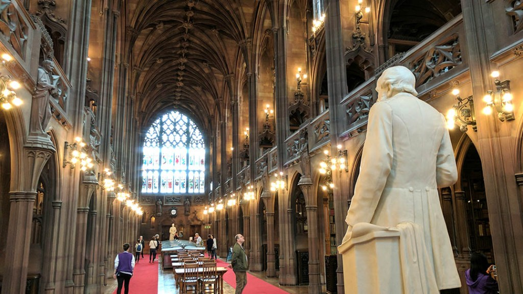 John Rylands Library in Manchester; from a cultural travel blog by www.traveljunkiegirl.com