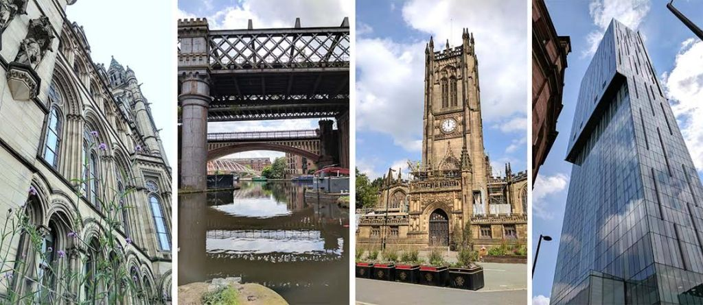 Manchester Architecture: Town Hall, Castlefield, cathedral and Beetham Tower; from a cultural travel blog by www.traveljunkiegirl.com
