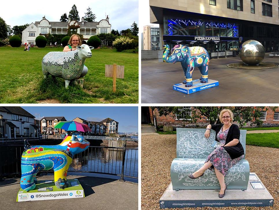 There are so many Public Art Sculpture Trails happening around the UK in recent years; including the Go Herdwick Sheep in the Lake District, The Herd of Elephants in Sheffield, Snowdogs in Cardiff and Jane Austen inspired bookbenches in Hampshire; they're a brilliant way of exploring an area, seeing new places and getting outside and active. From a cultural travel blog by www.traveljunkiegirl.com