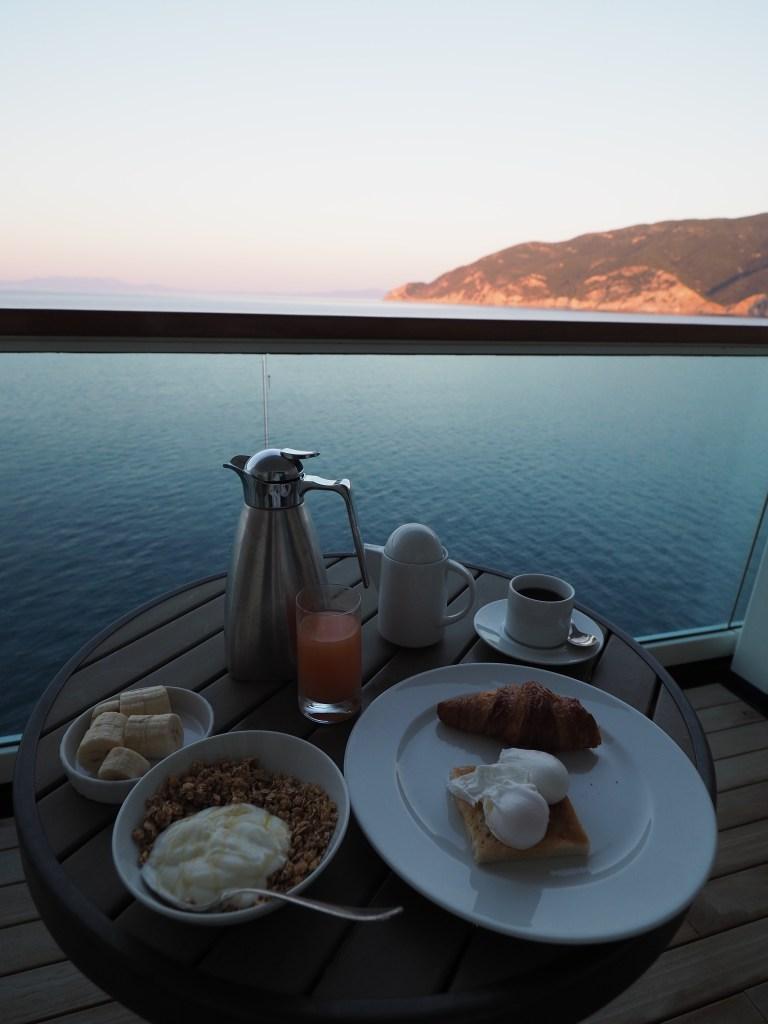 الإفطار في رحلة كروز سيبورن