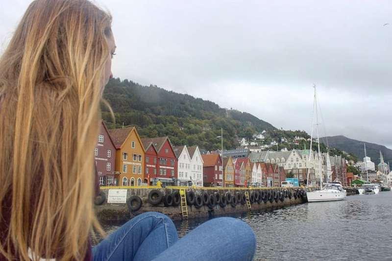 بيرجن رصيف الصيادين القديم في برغن النرويج
