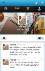 #Travel140 Twitter screenshot from TravelLatte