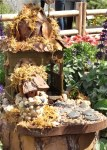 A Fairy House in Tinkerbell's Butterfly Garden