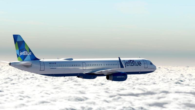 "JetBlue's new ""Prism"" livery will be featured on the airline's new Airbus A321 aircraft, which will also feature the new Mint premium cabin."