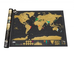 Holiday Gift Guide - Scratch Map Deluxe via @TravelLatte.net