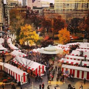 An American Christkindl Market: Union Square Holiday Market via @TravelLatte.net