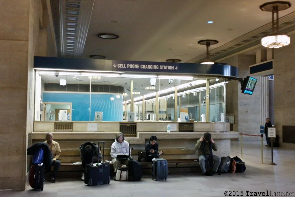Photo: Philadelphia train station charging station.