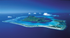 Aerial photo of Bora Bora.