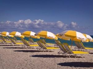 Photo: Marriott Hotel Cadillac Beach Umbrellas on Miami Beach.