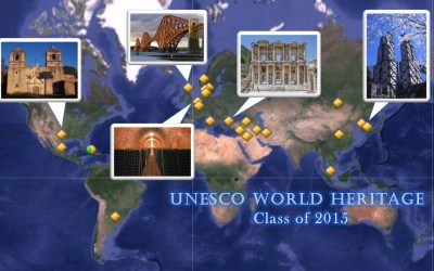 UNESCO World Heritage Class of 2015 Map