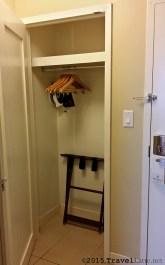 We were a little surprised at the size of the closet at the Atlanta Marriott Buckhead - not huge but roomy enough.
