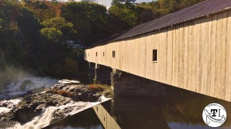 The Bath Covered Bridge over the Ammonoosuc River, Bath NH