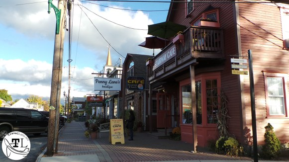 Downtown North Conway NH along the White Mountains Highway